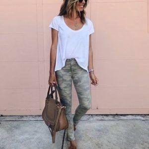 REWASH Camo Studded Skinny Jeans
